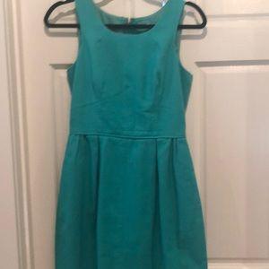 Jcrew bright green mini dress linen
